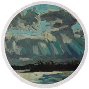 Singleton Cold Front Round Beach Towel by Phil Chadwick