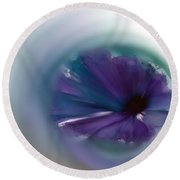 Round Beach Towel featuring the mixed media Sinking Into Beauty by Frank Bright
