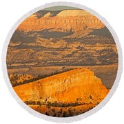 Sinking Ship Sunset Point Bryce Canyon National Park Round Beach Towel