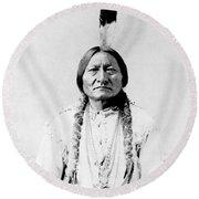 Sioux Chief Sitting Bull Round Beach Towel