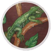 Sir Iguana Round Beach Towel