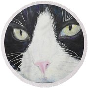 Sissi The Cat 2 Round Beach Towel