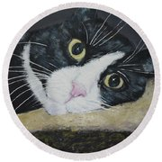 Sissi The Cat 3 Round Beach Towel