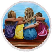 Sisters Round Beach Towel