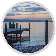 Sisters - Lakeside Living At Sunset Round Beach Towel