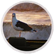Sittin On The Dock Of The Bay Round Beach Towel