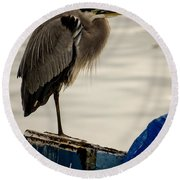Sittin' On The Dock Of The Bay Round Beach Towel
