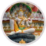 Sitting Buddhas Round Beach Towel