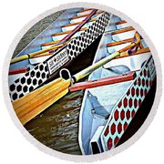 Six Sixteen Dragon Boat Round Beach Towel