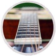 Six String Music Round Beach Towel