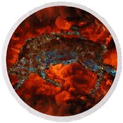 Sizzle Round Beach Towel by Stuart Turnbull