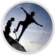 Skateboarders Round Beach Towel