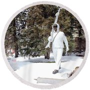 Ski Trooper Round Beach Towel
