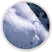 Skiing, Krasnaya Polyana-russia Round Beach Towel