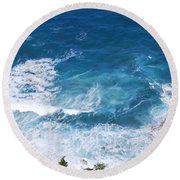 Skotini 1 Round Beach Towel