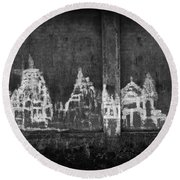 Round Beach Towel featuring the photograph Skc 0003 Temple Complex by Sunil Kapadia