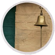 Round Beach Towel featuring the photograph Skc 0005 A Doorbell by Sunil Kapadia