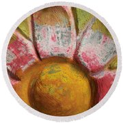 Round Beach Towel featuring the photograph Skc 0008 Scraped Paint by Sunil Kapadia