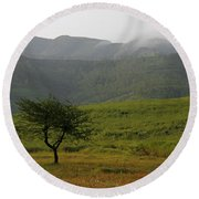 Round Beach Towel featuring the photograph Skc 0053 A Solitary Tree by Sunil Kapadia