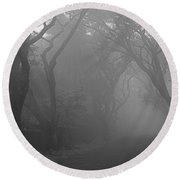 Round Beach Towel featuring the photograph Skc 0077 A Romatic Path by Sunil Kapadia