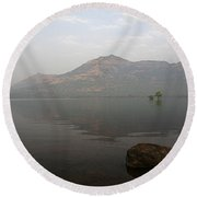 Round Beach Towel featuring the photograph Skc 0084 The Rock Show by Sunil Kapadia