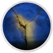 Round Beach Towel featuring the photograph Skc 0243 Cracked Y by Sunil Kapadia