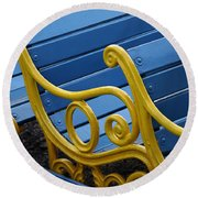 Round Beach Towel featuring the photograph Skc 0246 The Garden Benches by Sunil Kapadia