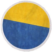 Round Beach Towel featuring the photograph Skc 0303 Co-existance by Sunil Kapadia