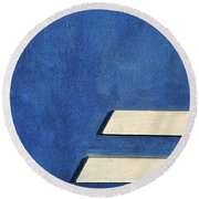 Round Beach Towel featuring the photograph Skc 0304 Parallel Paths by Sunil Kapadia