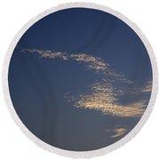 Skc 0353 Cloud In Flight Round Beach Towel by Sunil Kapadia