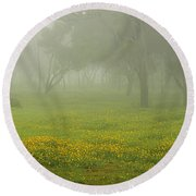 Round Beach Towel featuring the photograph Skc 0835 Romance In The Meadows by Sunil Kapadia