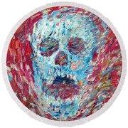 Skull And Scream 2012 Round Beach Towel