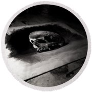 Skull Round Beach Towel