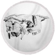 Skull Round Beach Towel by Tamir Barkan