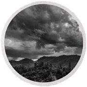 Big Sky Shasta County Round Beach Towel
