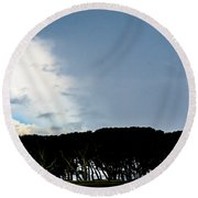 Sky Half Full Round Beach Towel by Mary Ward
