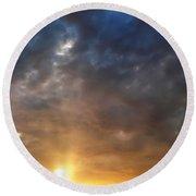 Sky Moods - Contemplation Round Beach Towel by Glenn McCarthy