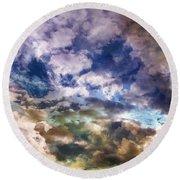 Sky Moods - Sea Of Dreams Round Beach Towel