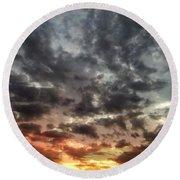 Sky Moods - Spectrum Round Beach Towel by Glenn McCarthy