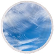 Sky Painting II Round Beach Towel