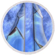 Skycicle Round Beach Towel by Paul Wear