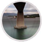 Skye Bridge At Sunset Round Beach Towel