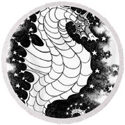 Round Beach Towel featuring the digital art Skyhorse by Carol Jacobs