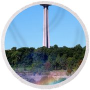Skylon Tower Niagara Falls Round Beach Towel