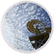 Skyward Round Beach Towel by Erika Weber