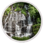 Slatebrook Falls Round Beach Towel