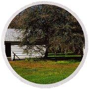 Slave Quarters, Magnolia Plantation And Round Beach Towel