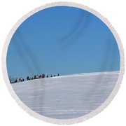 Dexter Drumlin Hill Sledding Round Beach Towel