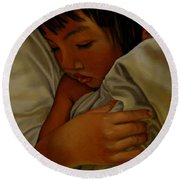 Sleep Round Beach Towel