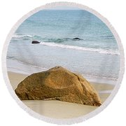 Sleeping Giant  Round Beach Towel by Kathy Barney